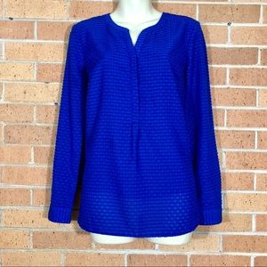 Talbots cobalt blue Blouse size Small Lined long